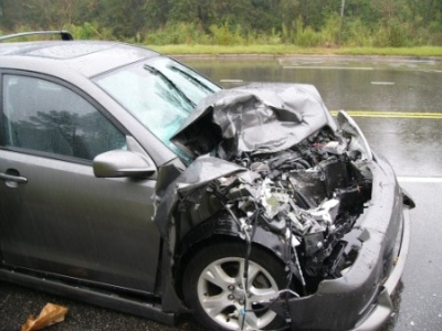 Image of a car after an accident